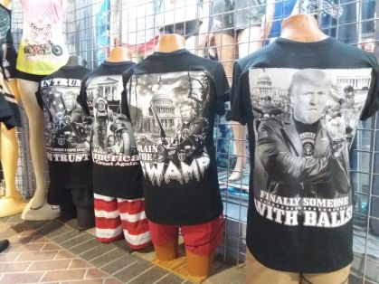 Trump, Trump, Trump: The shop owners in Daytona Beach prepared for a lot of political bikers